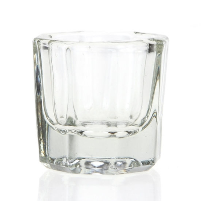 Glass Crystal Dish Holder Container Nail Art Manicure Salon Tools