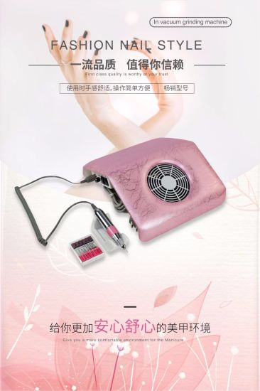 Nail Art Dust Collector Nail Grinding Machine with Vacuum