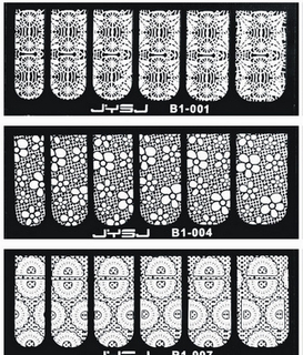 New Nail Art Lace Nail Stickers