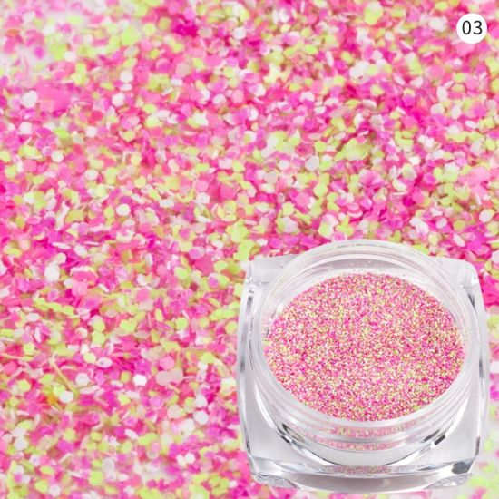 Nail Sandy Glitter Powder Mixed Color Manicure Nail Art Decoration