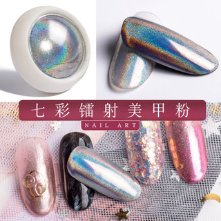Glitter Nails Holographic DIP Powder Chrome Pigments Nail Art Decorations