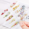 Holographic Nail Foil Set Flower Sticker Manicure DIY