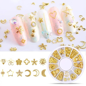 Wheel Metal Alloy Geometry Mix-Shaped Jewelry Accessories Manicure Decorations