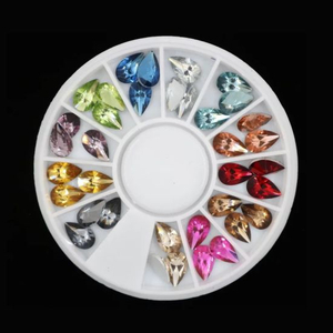 Mixed Colors Tear Shape Crystal Stones Diamonds Nail Art Decorations