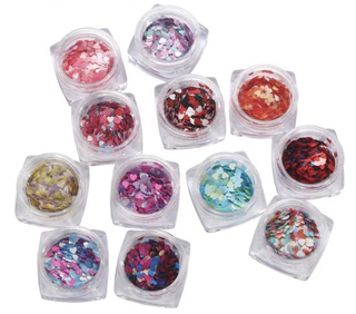 Mixed Color Heart Shape Nail Sequins Glitter Nail Art Decoration