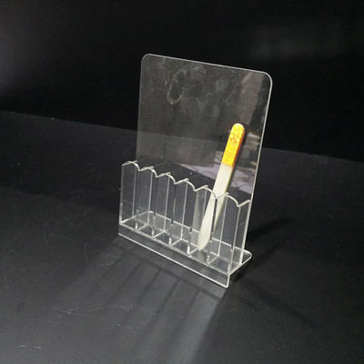 Transparent Nail File Storage Stand Manicure Shelves Beauty Tools Holder