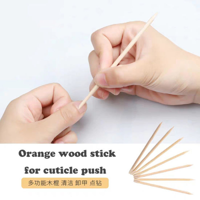 Wood Stick Cuticle Pusher Remover Pedicure Nail Art Tool