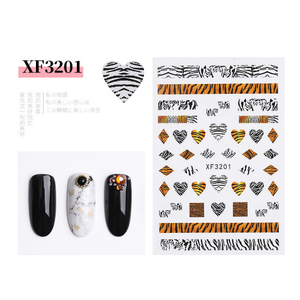 Leopard Print Stickers Nails Foils Transfer Decals Polishing Sliders Nails