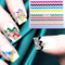 Fashion Mix Metallic Style Colorful Smile Strip Line French Stickers