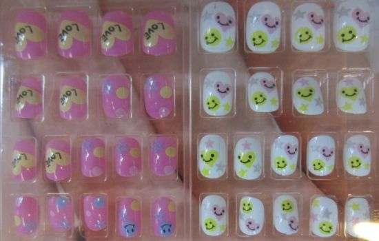 Kids Artificial Plastic Nail Tips for Finger Nail