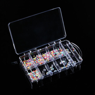 100PCS Nail Tip Box Nail Art Tools Portable Empty Containers