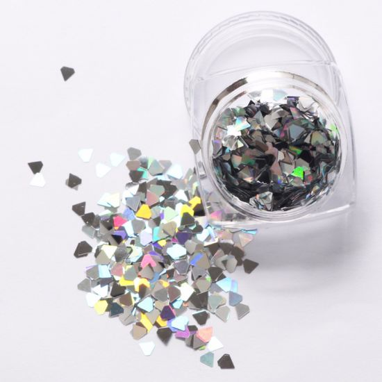 Nail Sequins Diamond Rhombus Metal Paillette Manicure Nail Art Decoratio