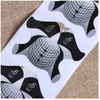 New Design Black Hair Shape Nail Forms Nail Art Extension