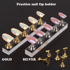 Nail Holder Practice Training Display Stand False Nail Tip Salon