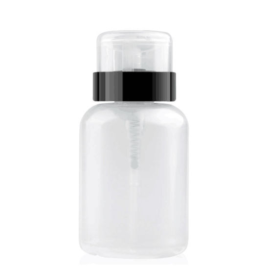 Liquid Clear Press Pumping Dispenser Container Nail Polish Remover Bottle