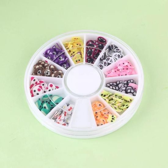 Nail Art Fruit Fimo Slices with Cake Animal Shapes