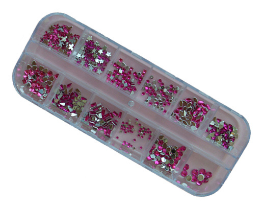 Nail Art Pink Crystal Stones Set for Art Nail