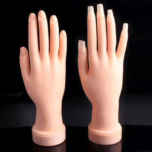 Practice Flexible Movable Hand Model for Nail Art Training Display