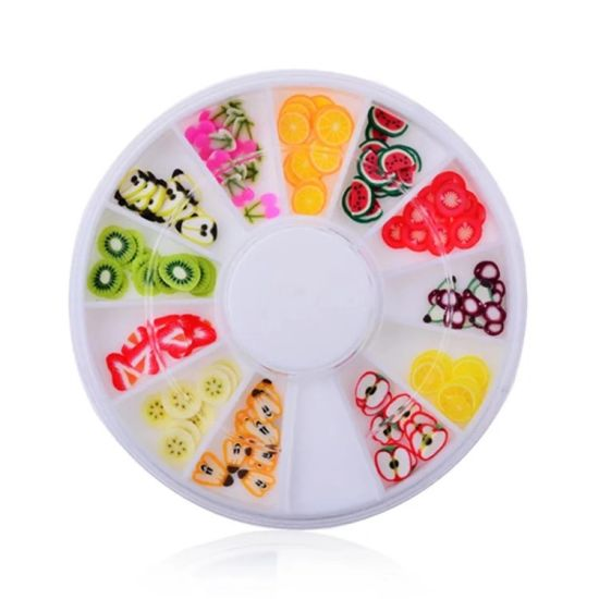 Nail Art Fimo Slice Set of Fruit and Animal for Art Nail