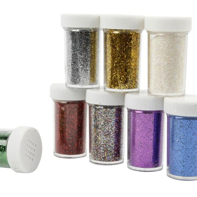 Nail Art Shinning Glitter Powder in 20g Bottle for Nail Beauty