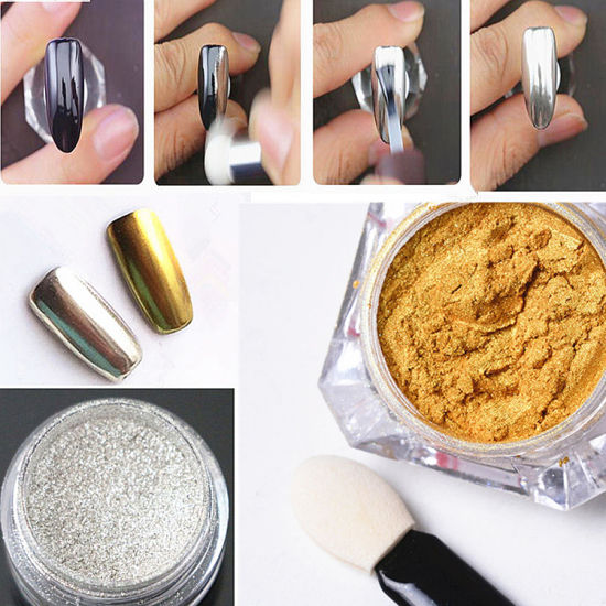 Nail Pigment Nail Art Chrome Powder Manicure Mirror Powder Set