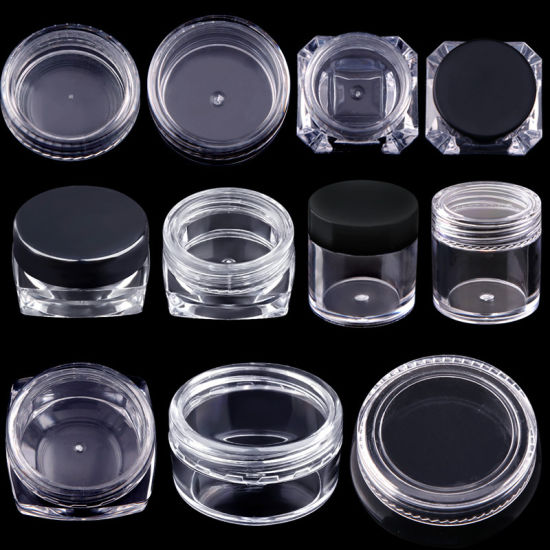 Nail Art Powder Cup Clear Dappen Glitter Nail Art Container