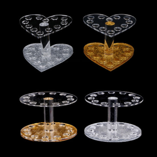 Professional Heart Round Makeup Nail Art Brush Pen Holder