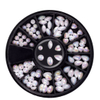 Shinning White Multi-Shape Pearls for Nail Art Decorations Manicure Tools