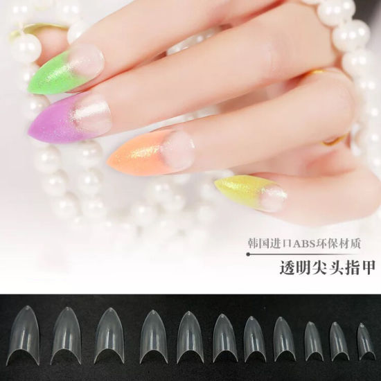 Salon Plastic Stiletto Nail Tips for Designed Art Nail
